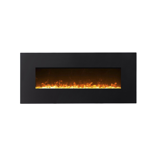 Gibson Living GL5050CE Lawrence 50 Inch Crystal Electric Wall Mounted Fireplace Black