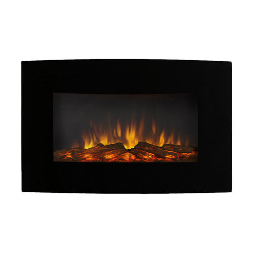 """Regal Flame Broadway 35"""" Log Ventless Heater Electric Wall Mounted Fireplace Better than Wood Fireplaces, Gas Logs, Fireplace In"""