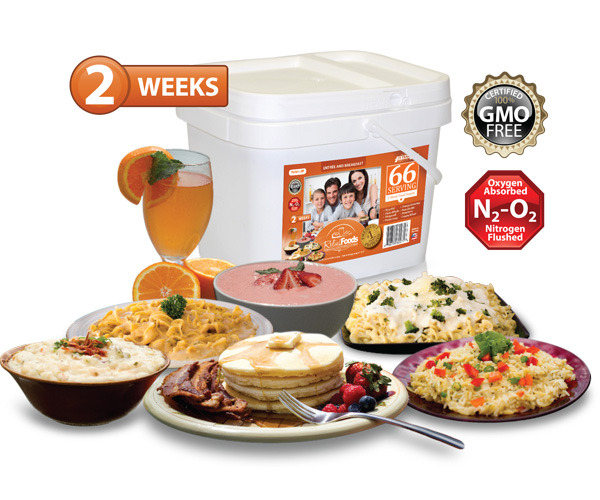 2 Week - Essential - 66 Serving Entrée & Breakfast Bucket