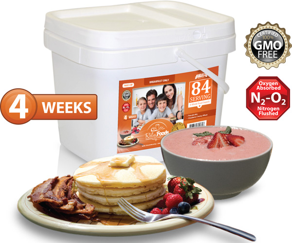 4 Week - Essential - 84 Serving All Breakfast Bucket