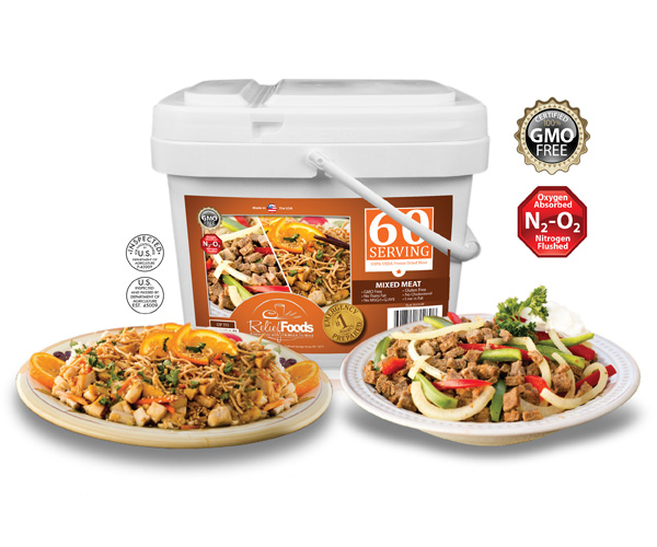 Meat Lovers - Mixed Chicken and Beef - 60 Serving Bucket