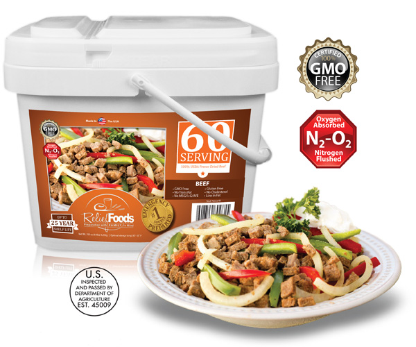 All Beef - 60 Servings Bucket