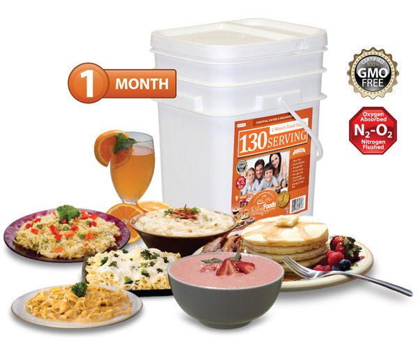 1 Month - Essential - 130 Serving Entrée & Breakfast Bucket
