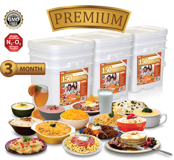 3 Month - Premium - 450 Serving Entrée & Breakfast Combo