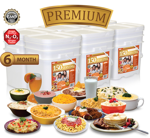 6 Month - Premium - 900 Serving Entrée & Breakfast Combo