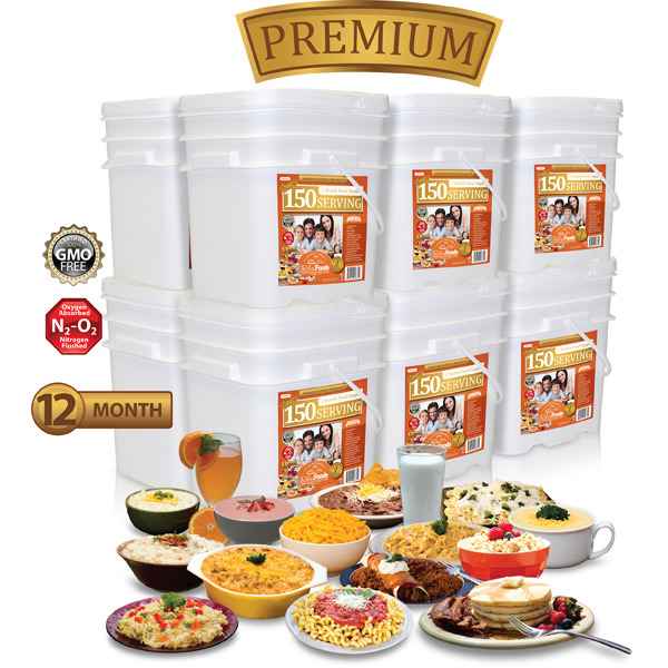 12 Month - Premium - 1,800 Serving Entrée & Breakfast Combo