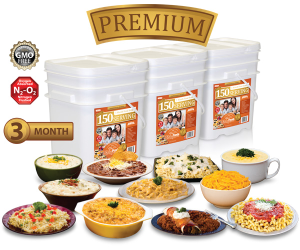 3 Month - Premium - 450 Serving All Entrée Combo