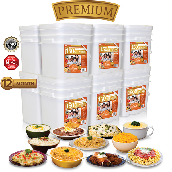 12 Month - Premium - 1,800 Serving All Entrée Combo