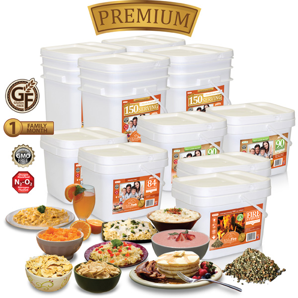 1 Month - 948 Serving - Premium 4 Adult Emergency Food Supply