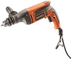 RIDGID� 8-AMP HEAVY-DUTY VARIABLE SPEED REVERSIBLE DRILL, 1/2 IN.