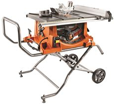 RIDGID� 15-AMP HEAVY-DUTY TABLE SAW WITH STAND, 10 IN.