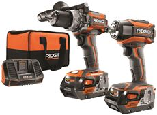 RIDGID� 18-VOLT HAMMER DRILL AND 3SP IMPACT KIT