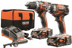 RIDGID� 18-VOLT DRILL AND IMPACT DRIVER KIT