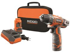 RIDGID� 12-VOLT 2-SPEED DRILL KIT