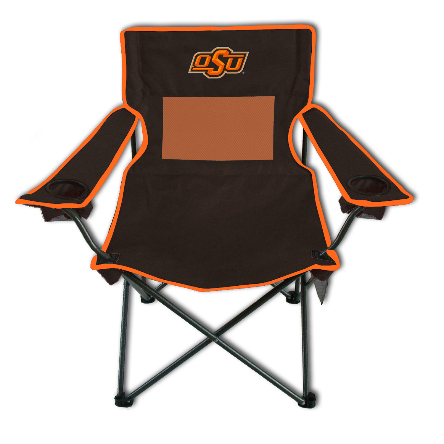 Rivalry Sports Team Logo Design Outdoor Travel Tailgating Oklahoma State Monster Mesh Adult Chair
