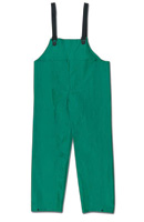 River City Rainwear Medium Green Dominator .42 mm PVC And Polyester Flame Retardant Chemical Protection Bib Pants With Welded Se