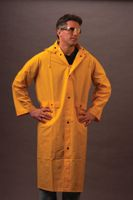 """River City Rainwear Co River City Rainwear Large Yellow 49"""" Classic .35 mm PVC And Polyester Rain Coat With Welded Seams, Storm Flap Over Snap Fro at Sears.com"""
