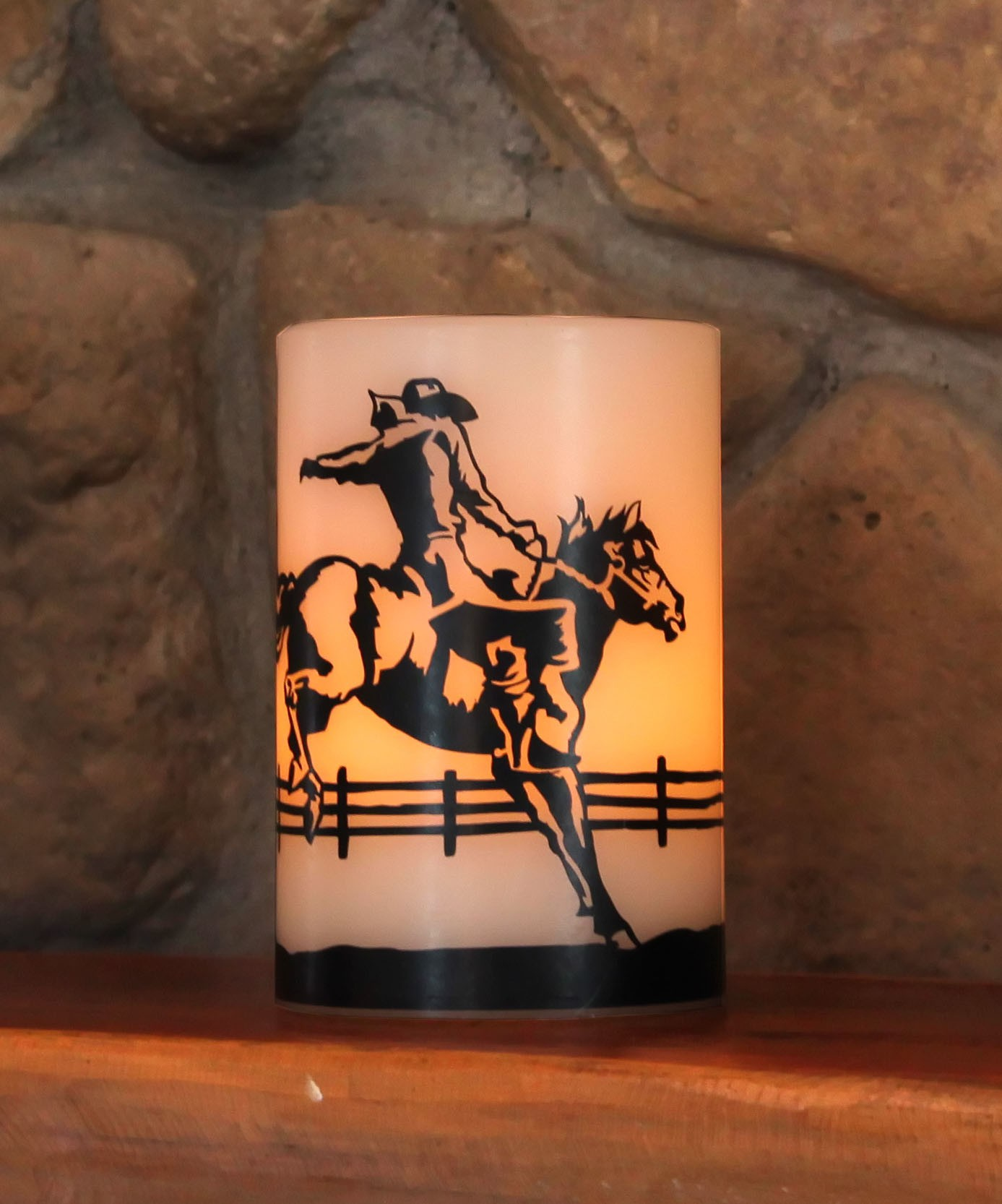 Bronco Rider LED Candle