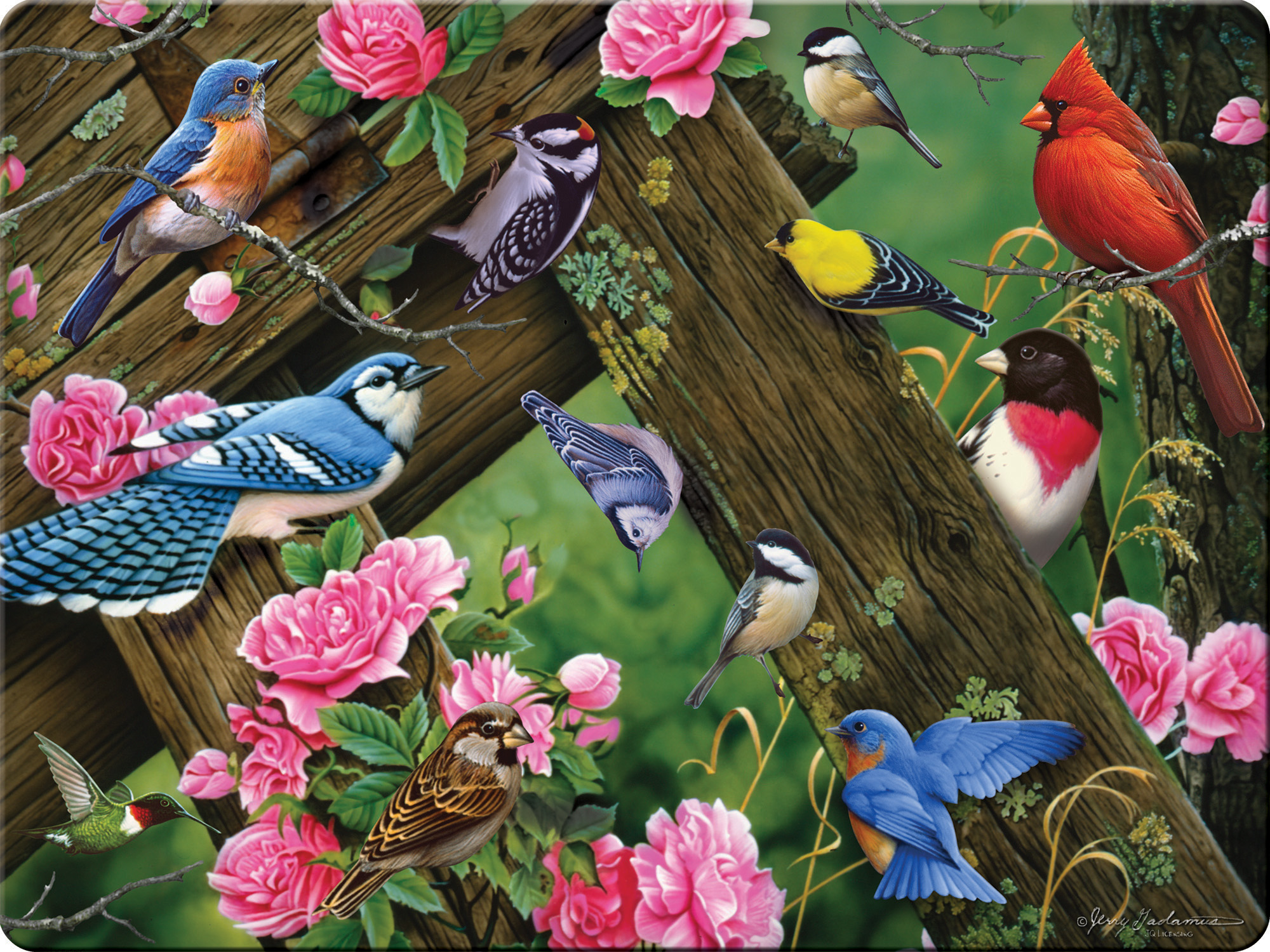 Songbirds Glass Tempered Cutting Board