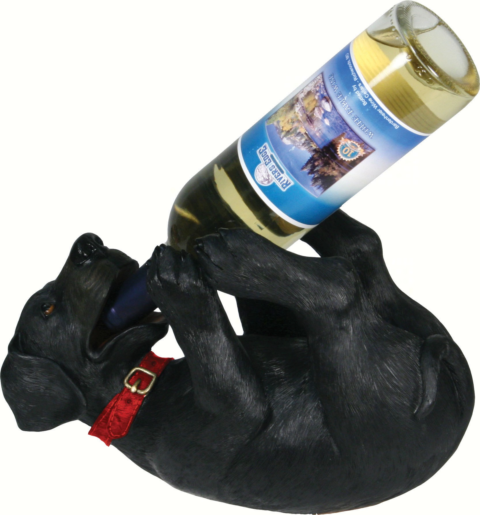 Black Lab Wine Bottle Holder