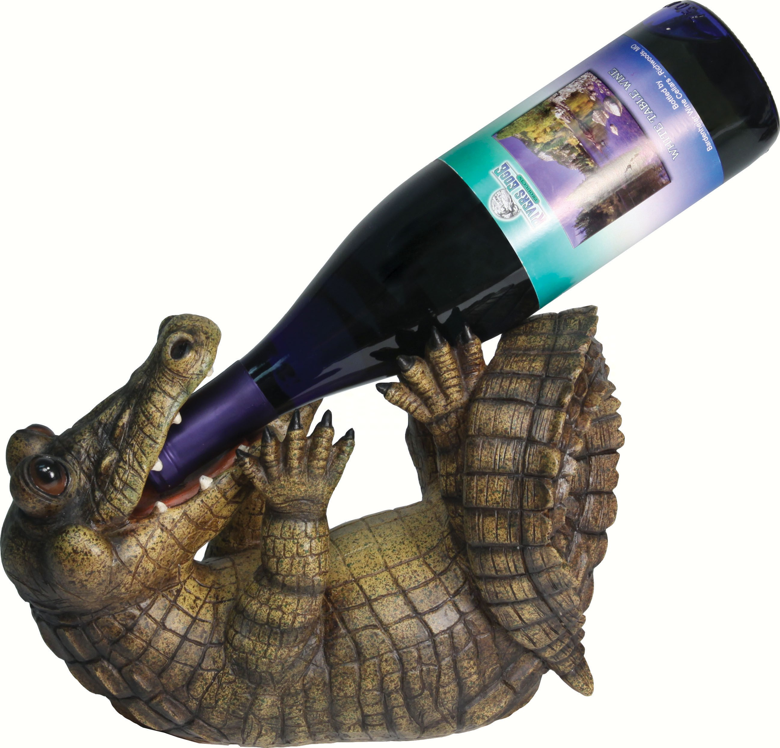 Alligator Wine Bottle Holder