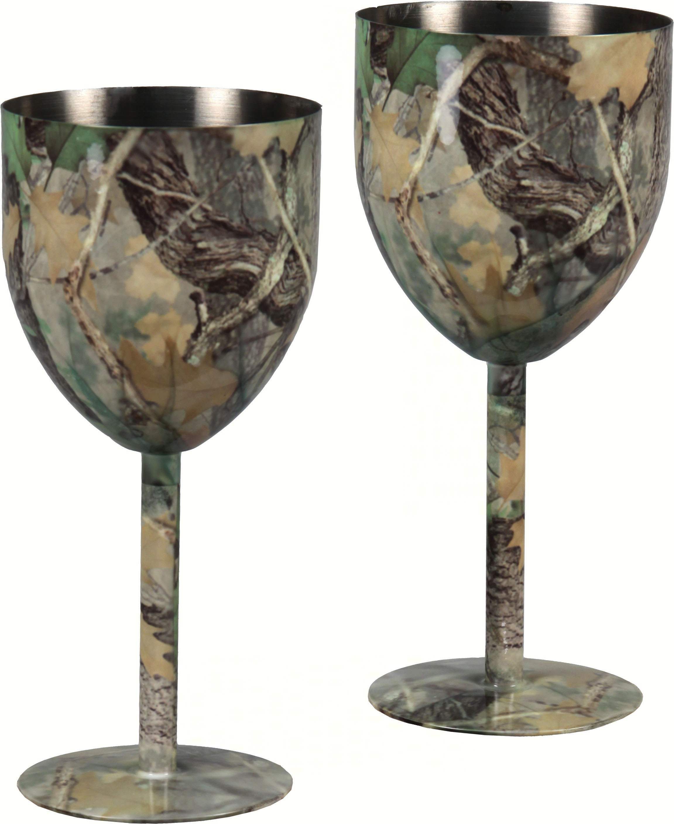 Camo Stainless Steel Wine Glass Set 2 pcs