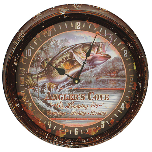 Bass Metal Clock 15""