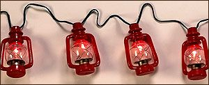 REP Light Set 10Ft-Jumbo Size  Red Oil Lantern Style