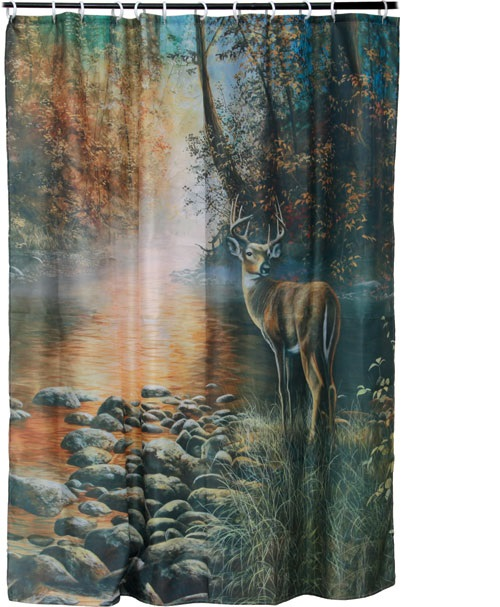 REP Deer Shower Curtain