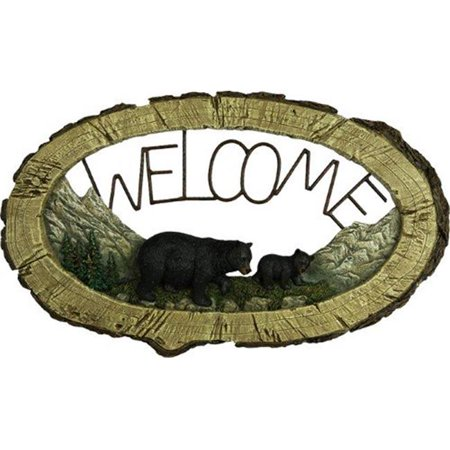 Rivers Edge Bear Welcome Sign 1380