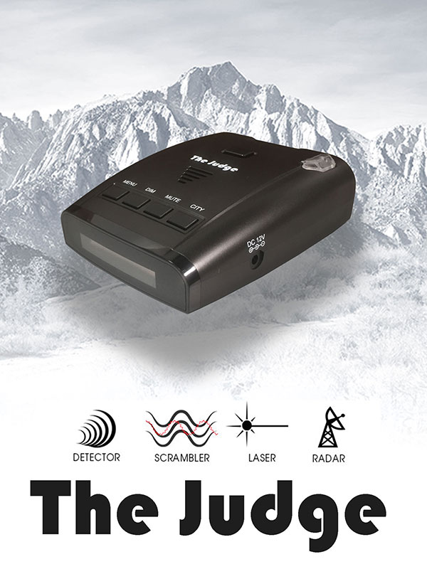 ROCKY MOUNTAIN RADAR - THE JUDGE 2.0 ALL BAND 360-� RADAR  & LASER DETECTOR WITH SCRAMBLER & VOICE ALERTS
