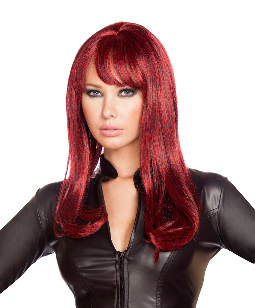 Roma Costume Halloween parties Womens Burgendy Wig - One Size