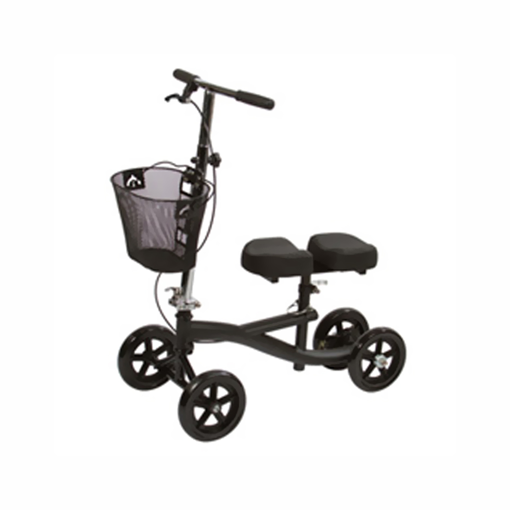 Knee Scooter with 8-Hole Stem Black