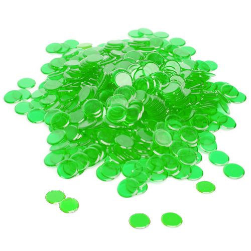 300 Pack Green Bingo Chips