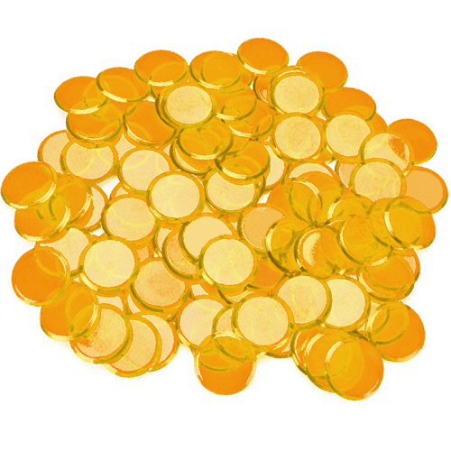 100 Pack Orange Bingo Chips