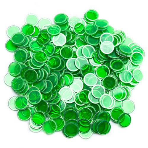 300 Pack Green Magnetic Bingo Chips