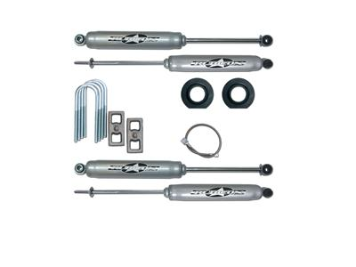 2 Inch Economy Lift Kit with Rear Blocks and U-Bolts and Twin Tube Shocks
