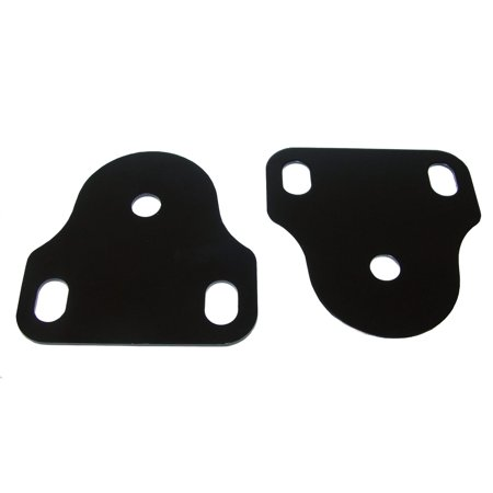 Windshield Bracket Set, Black, 76-95 Jeep CJ and Wrangler