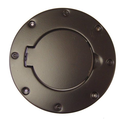 Non-Locking Gas Cap Door, Black, 97-06 Jeep Wrangler
