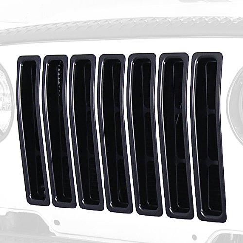 Grille Inserts, Black, 97-06 Jeep Wrangler