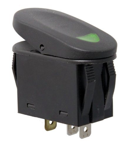 2-Position Rocker Switch, Green