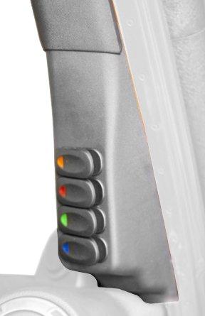 A-Pillar Switch Pod Kit, Black, LHD, 07-10 Jeep Wrangler (JK)