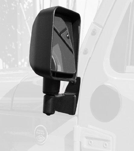 Mirror Relocation Brackets, Black; 07-16 Jeep Wrangler JK