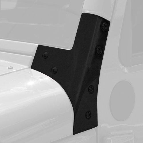 Windshield Hinges, Black, 07-14 Jeep Wrangler (JK)
