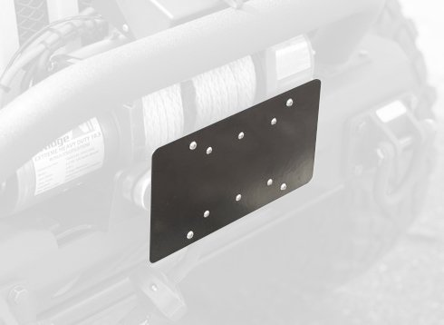Front Hawse Fairlead License Plate Mounting Bracket By Rugged Ridge