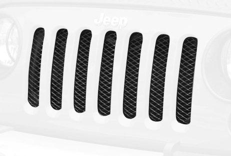 Mesh Grille Insert, Black, 07-14 Jeep Wrangler (JK)