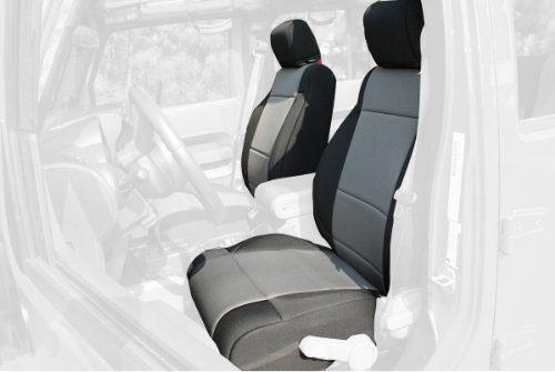 FRT SEAT COVERS BLK/GREY