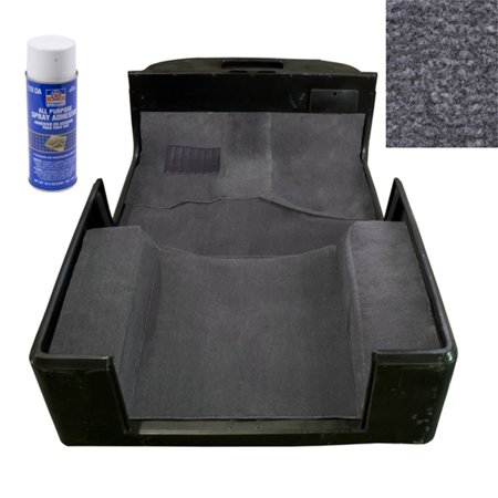 Deluxe Carpet Kit with Adhesive, Gray; 97-06 Jeep Wrangler TJ