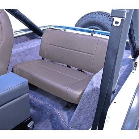 Standard Replacement Rear Seat, Gray; 55-95 Jeep CJ/Wrangler YJ
