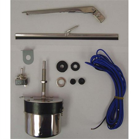 12- VOLT WIPER MOTOR KIT, STAINLESS STEEL, 59-71 WILLYS & JEEP MODELS